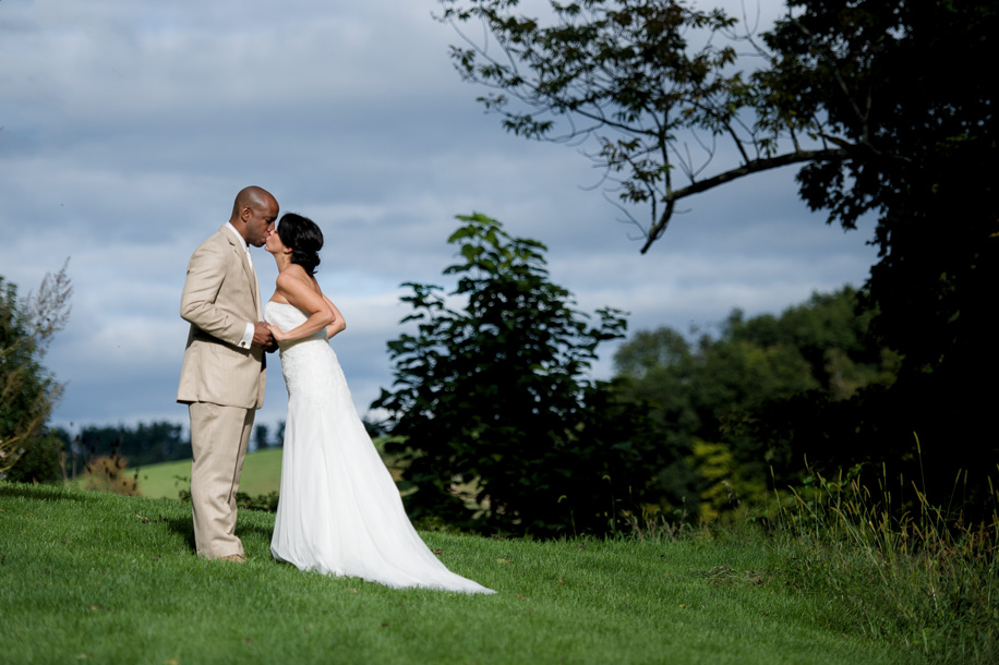 Wedding Photography Ceremony on a Farm in Upstate NY