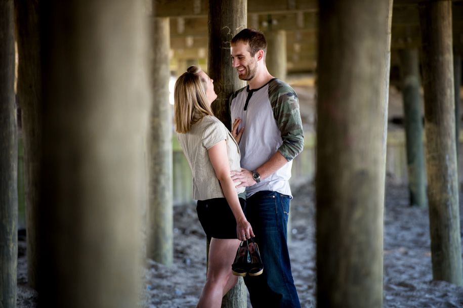 Kayla and Lance Engagement Photography at the NJ Shore