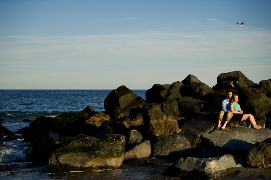 Kayla and Lance Engagement Photography at the NJ Shore