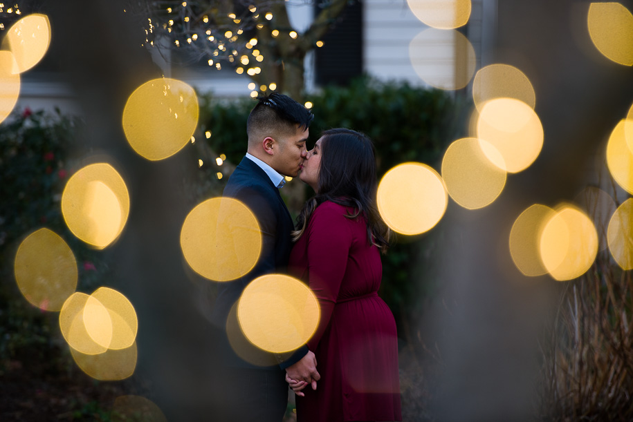 engagement photos in morristown nj